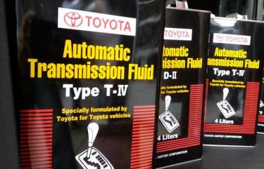 Toyota - Акпп: объемы и типы жидкостей